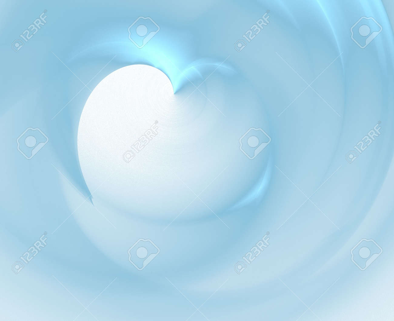 smooth blue heart fractal Stock Photo - 837111