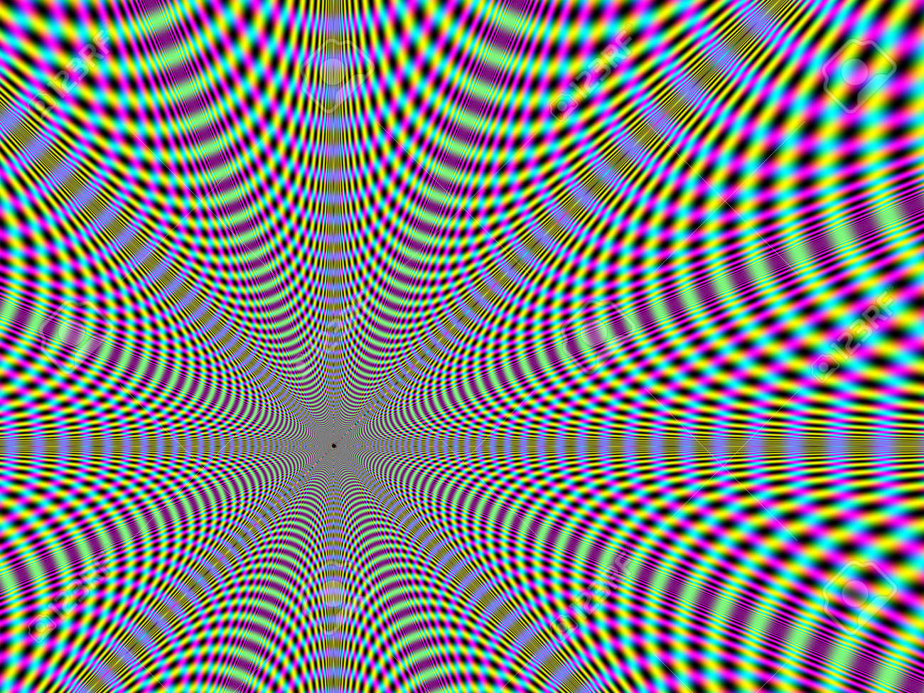 retro-style psychedelic background that seems to suck the viewer in Stock Photo - 931906