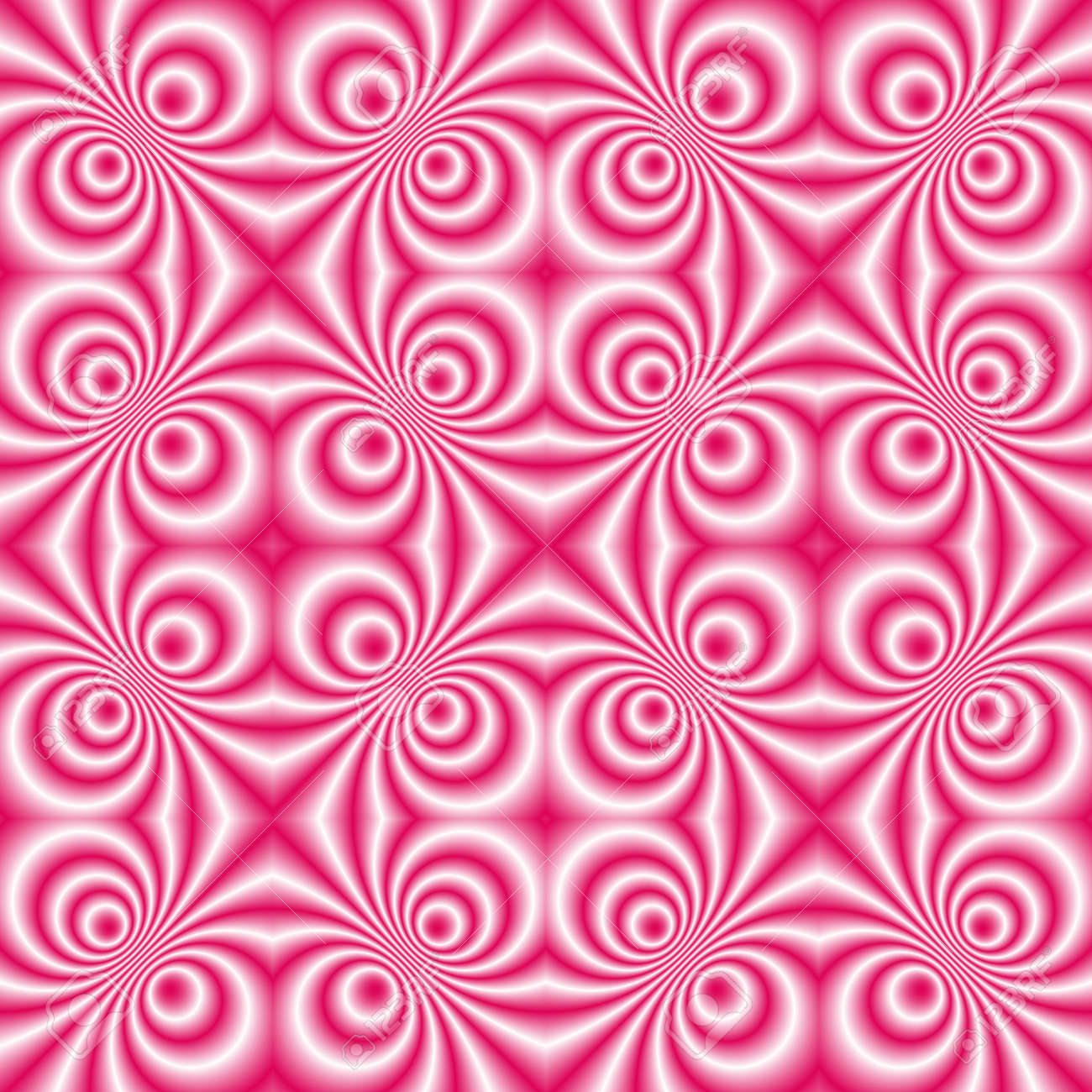 seamless tillable pink retro background with swirls, disco style Stock Photo - 2456285