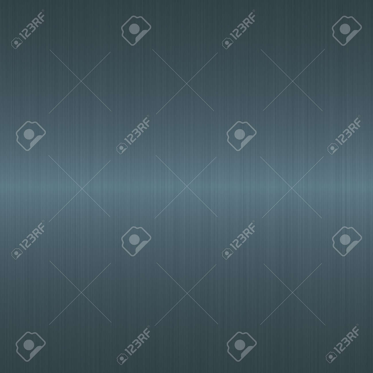 brushed dark blue silver metallic background with central highlight Stock Photo - 3089906