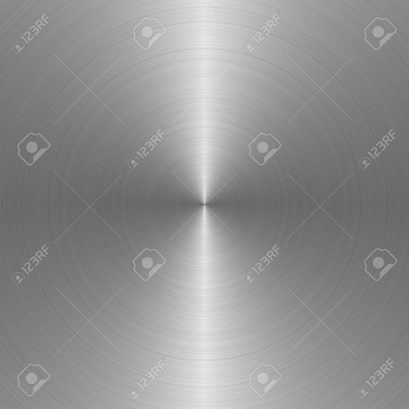 circular brushed steel background with central highlight Stock Photo - 3089920