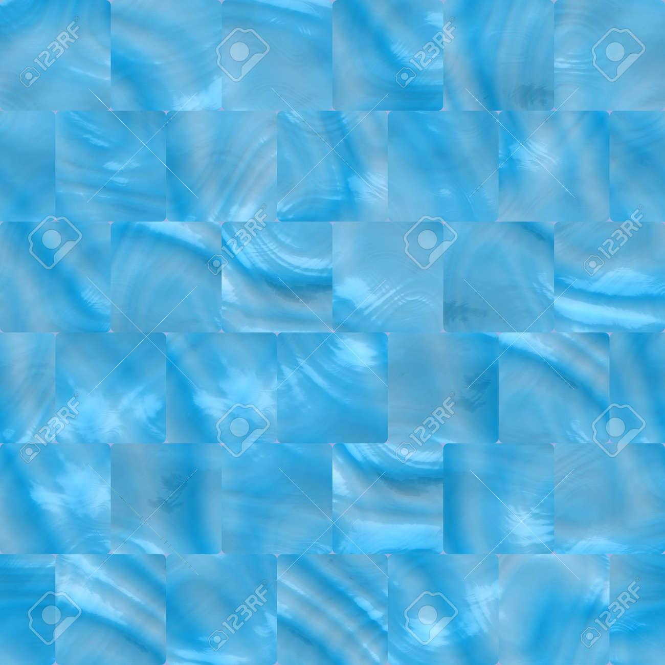 Banque Du0027images   Bleu Carreaux De Céramique Pour Salle De Bains, Cuisine  Ou Piscine, De Façon Transparente Labourables