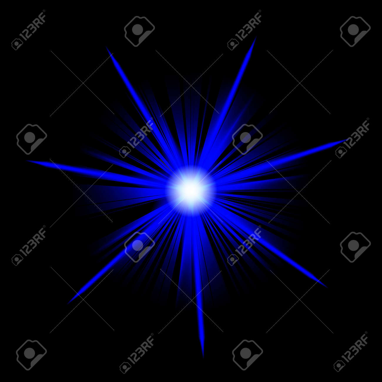 blue star or supernova over black Stock Photo - 3807861