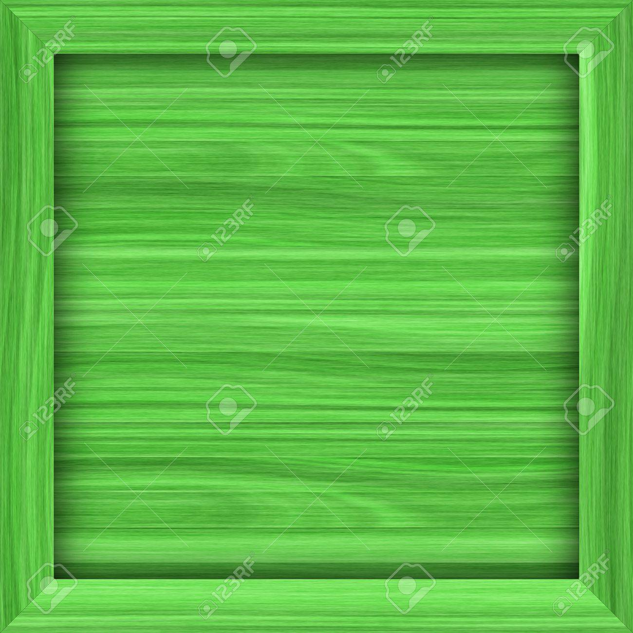 Simple Green Wooden Crate Or Frame With Copy Space Would Make A Great Background For