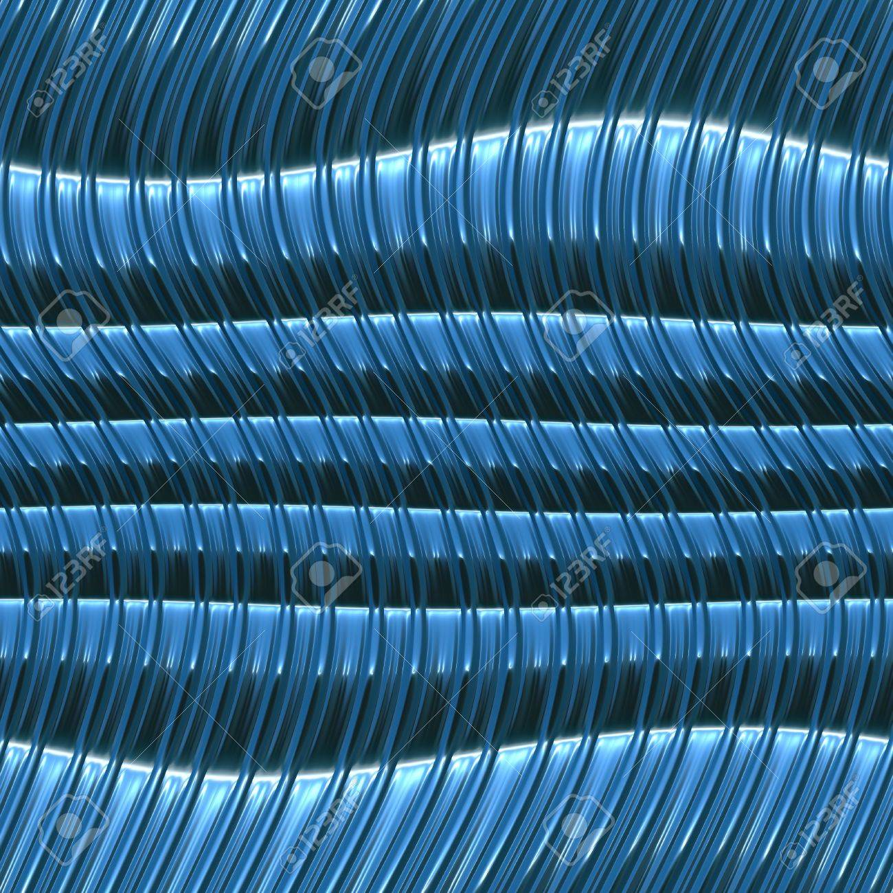 blue wavy metallic background, will tile seamlessly Stock Photo - 3843438