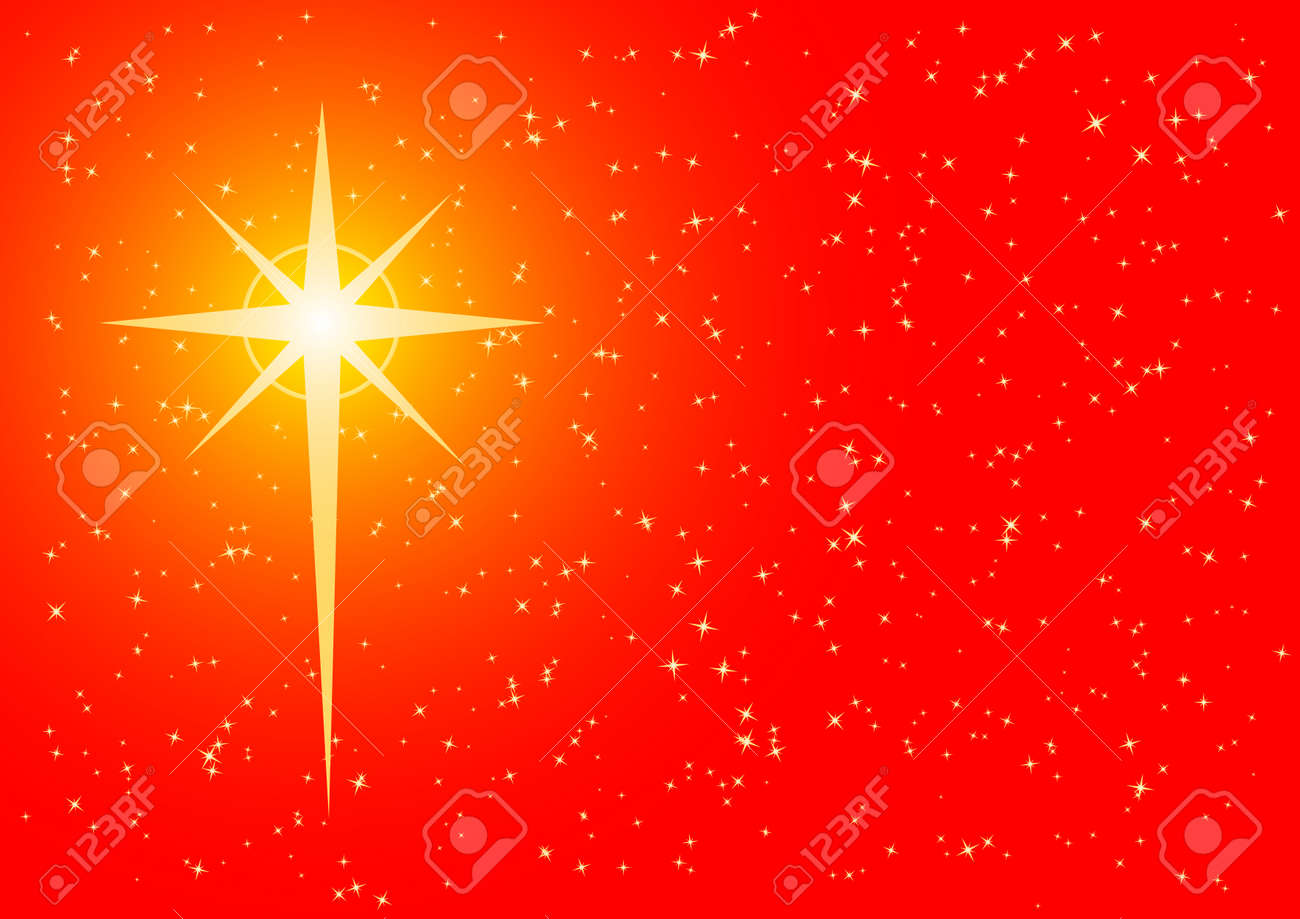 Christmas Background With Cross Shaped Star Royalty Free Cliparts ...