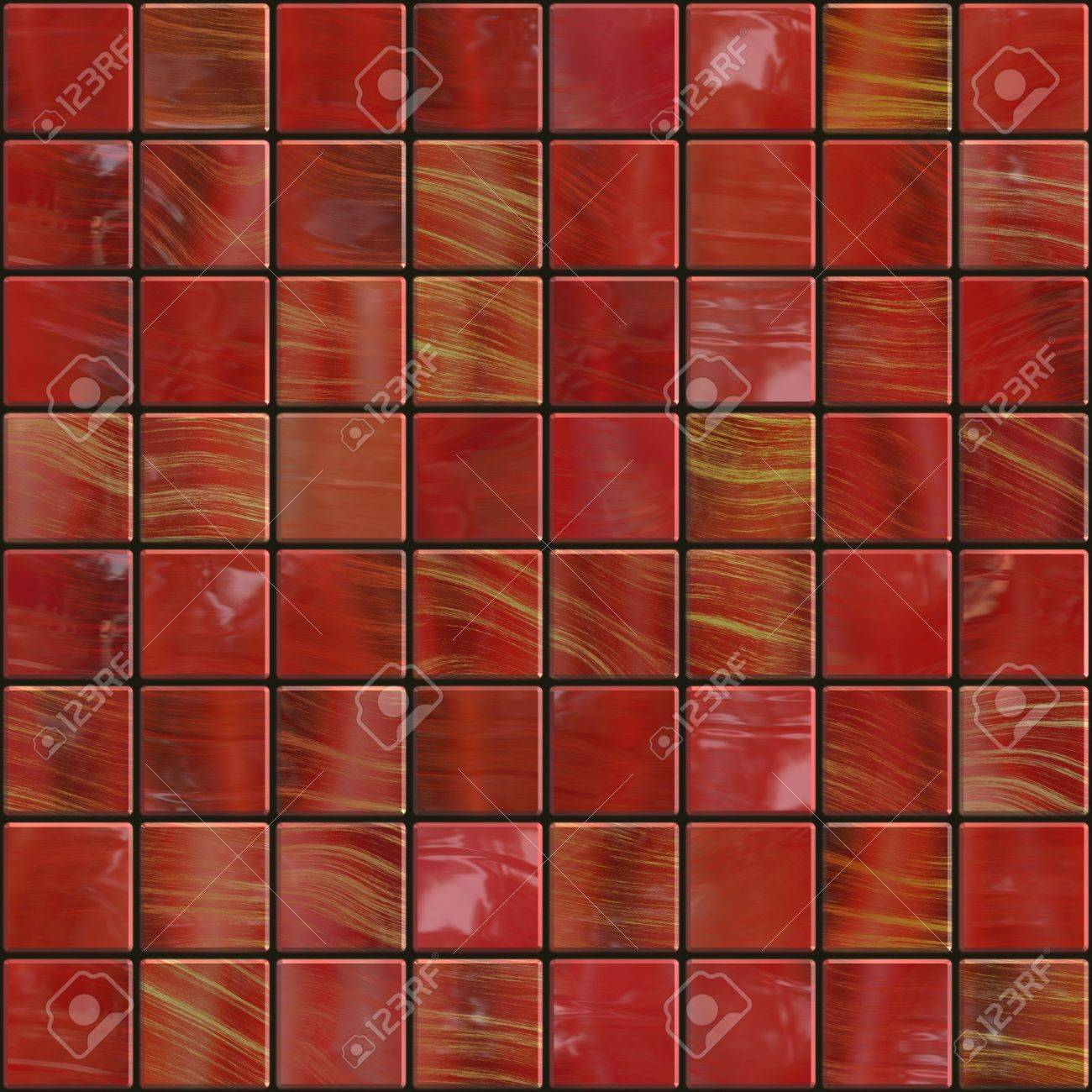 Red Ceramic Tiles With Golden Sparkles Will Tile Seamless As