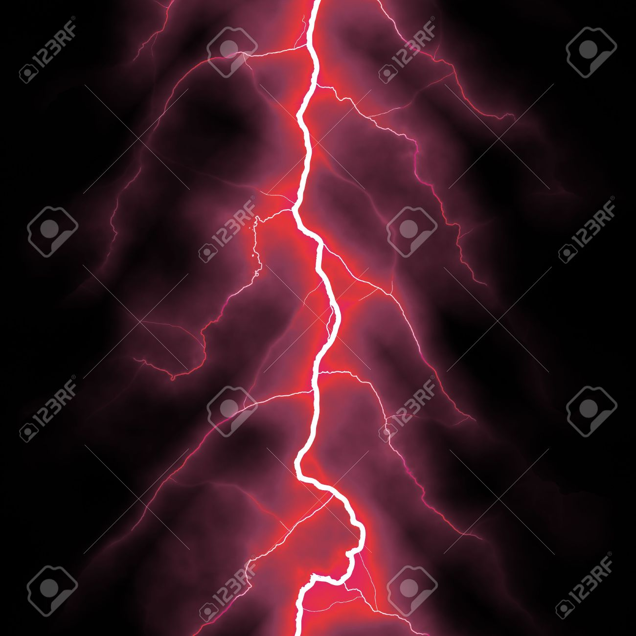 Red Lightning Bolt Over Black Stock Photo Picture And Royalty Free Image Image 4344619