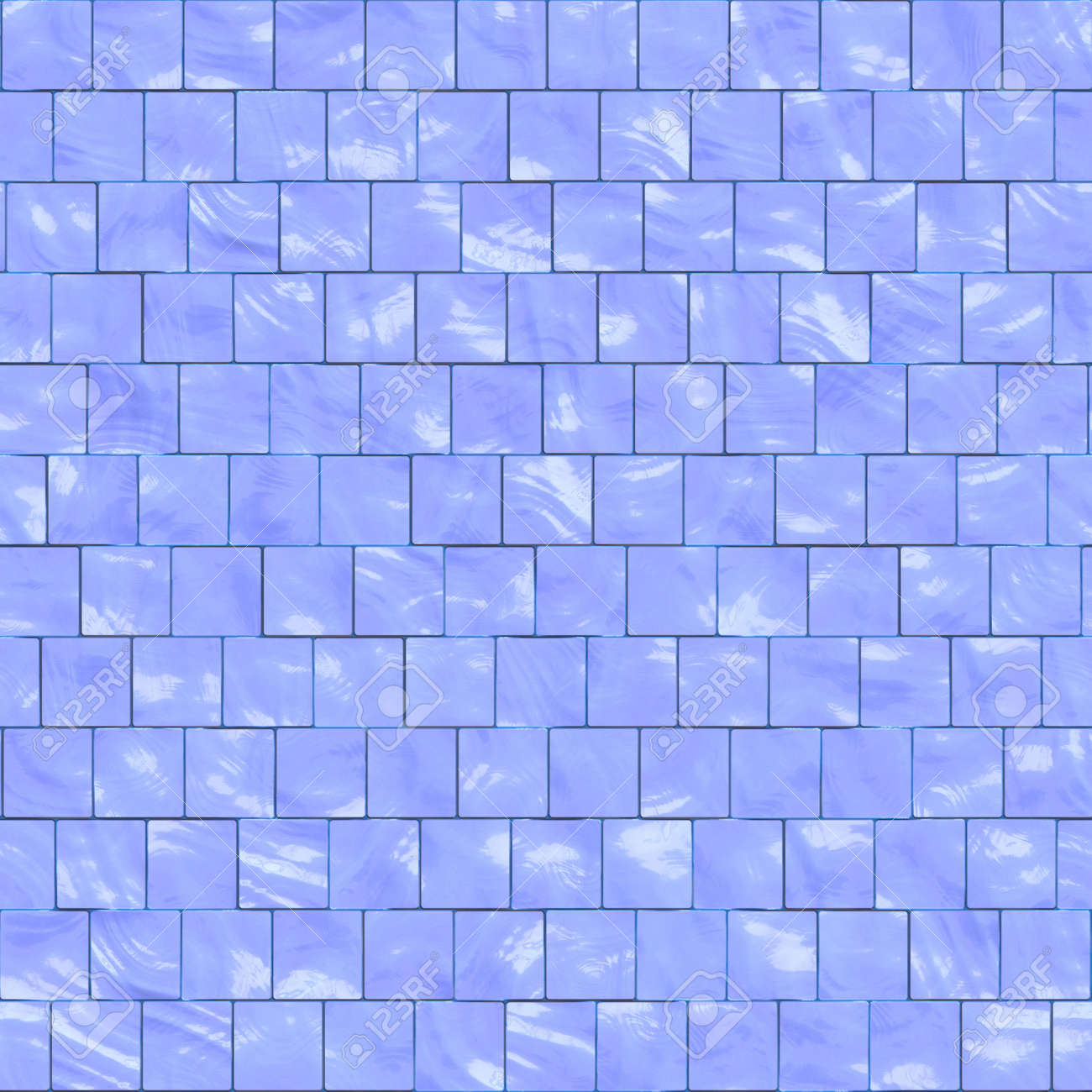 Blue Ceramic Tiles For Kitchen Or Bathroom, Seamlessly Tillable ...