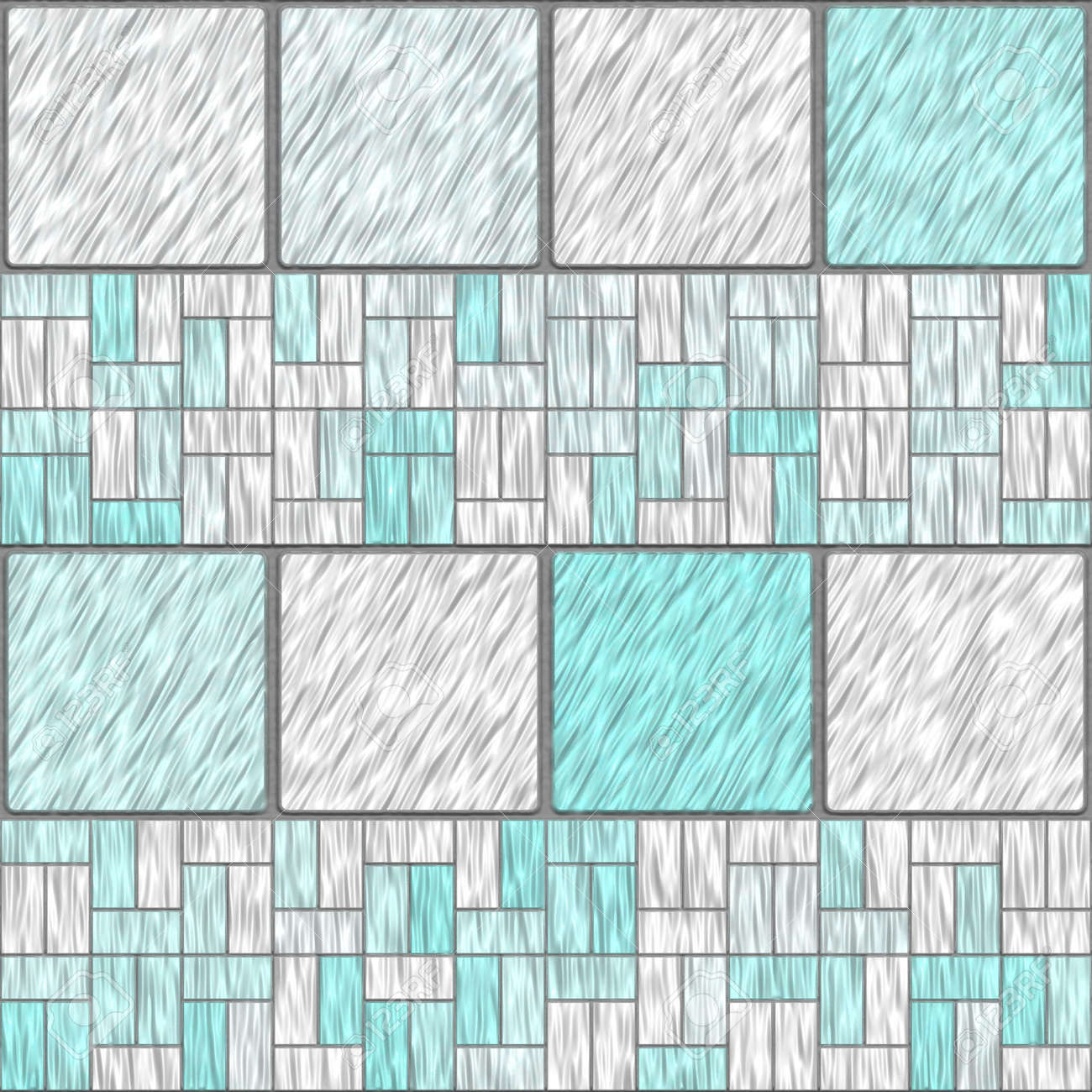Pastel Ceramic Tiles That Tile Seamless In All Directions Stock ...