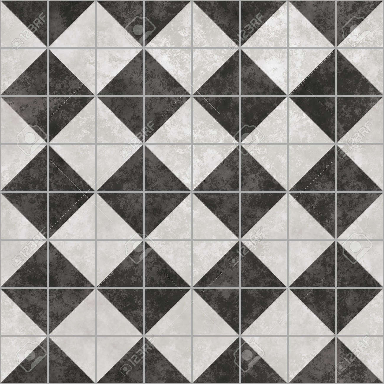 Black And White Tiles That Tile Seamless In All Directions Stock ...