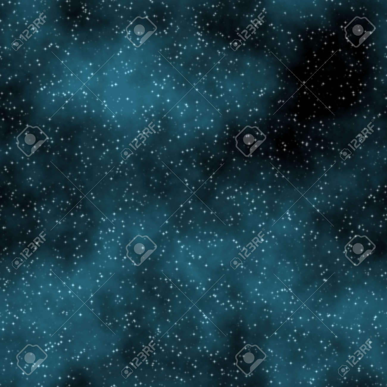 blue night sky with nebula and stars that tiles seamless in all directions Stock Photo - 6343306