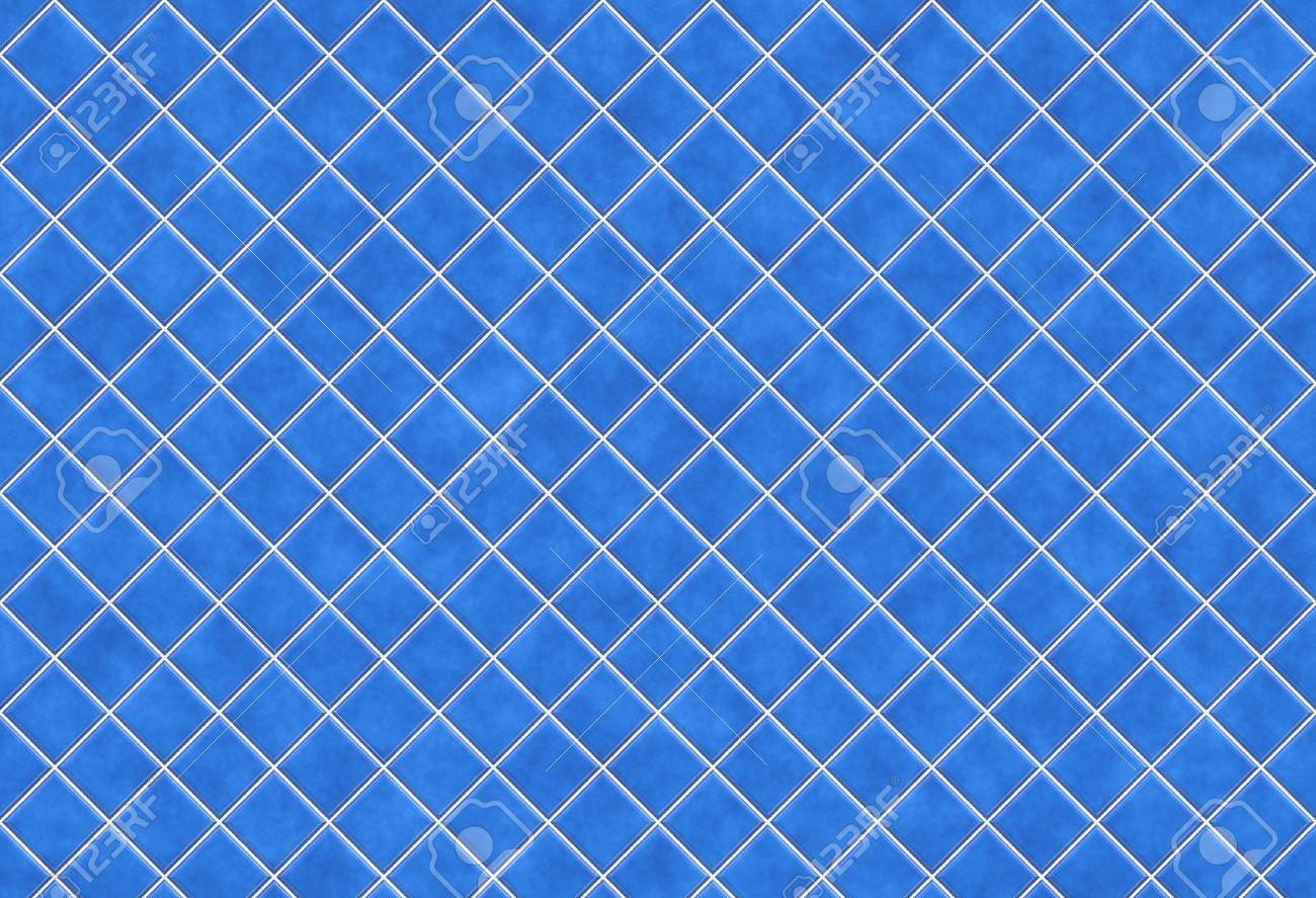 Charmant Blauen Fliesen Texture Background, Küche Oder Bad Konzept Standard Bild    7109221