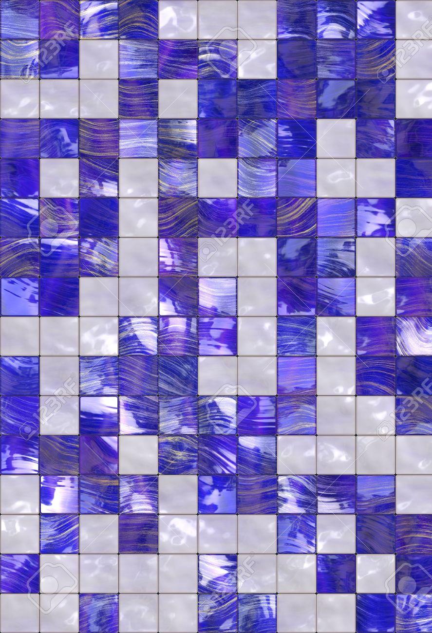 kitchen blue tiles texture. Blue White Golden Tiles Texture Background, Kitchen Or Bathroom Concept Stock Photo - 7109225 D