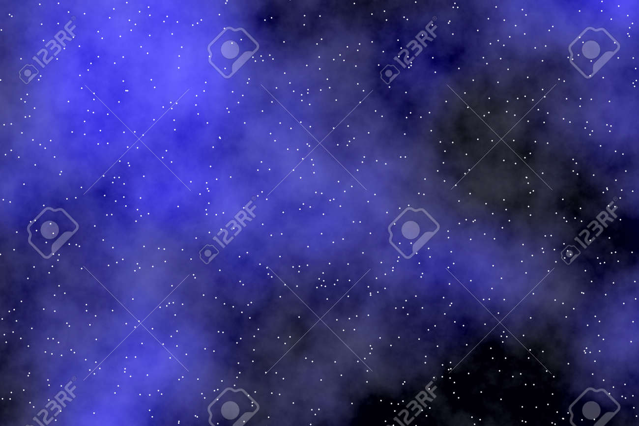 Night Sky Wallpaper With Aurora Borealis Tiny Stars And Dreamy Effect Stock Photo