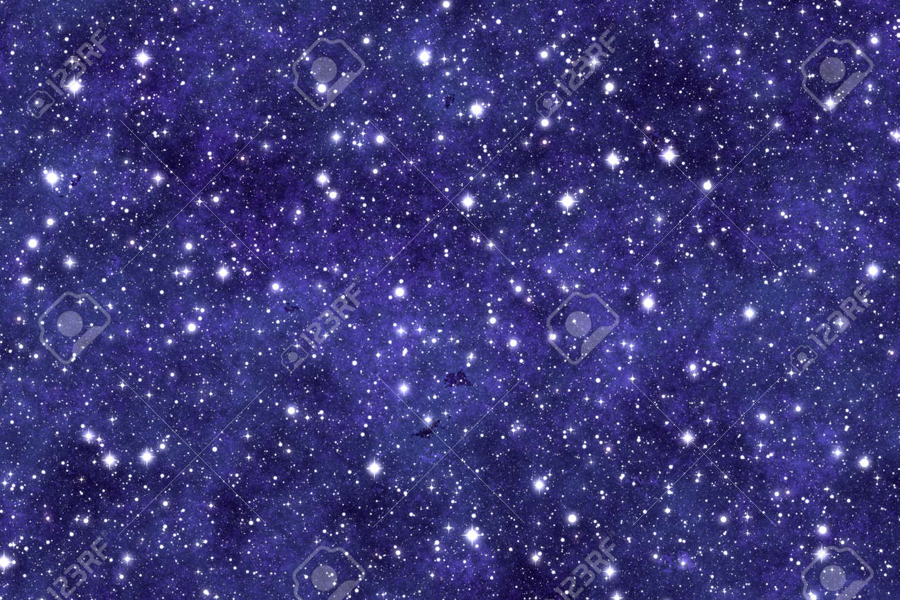 Night Sky Wallpaper With Many Stars And Dreamy Effect Stock Photo