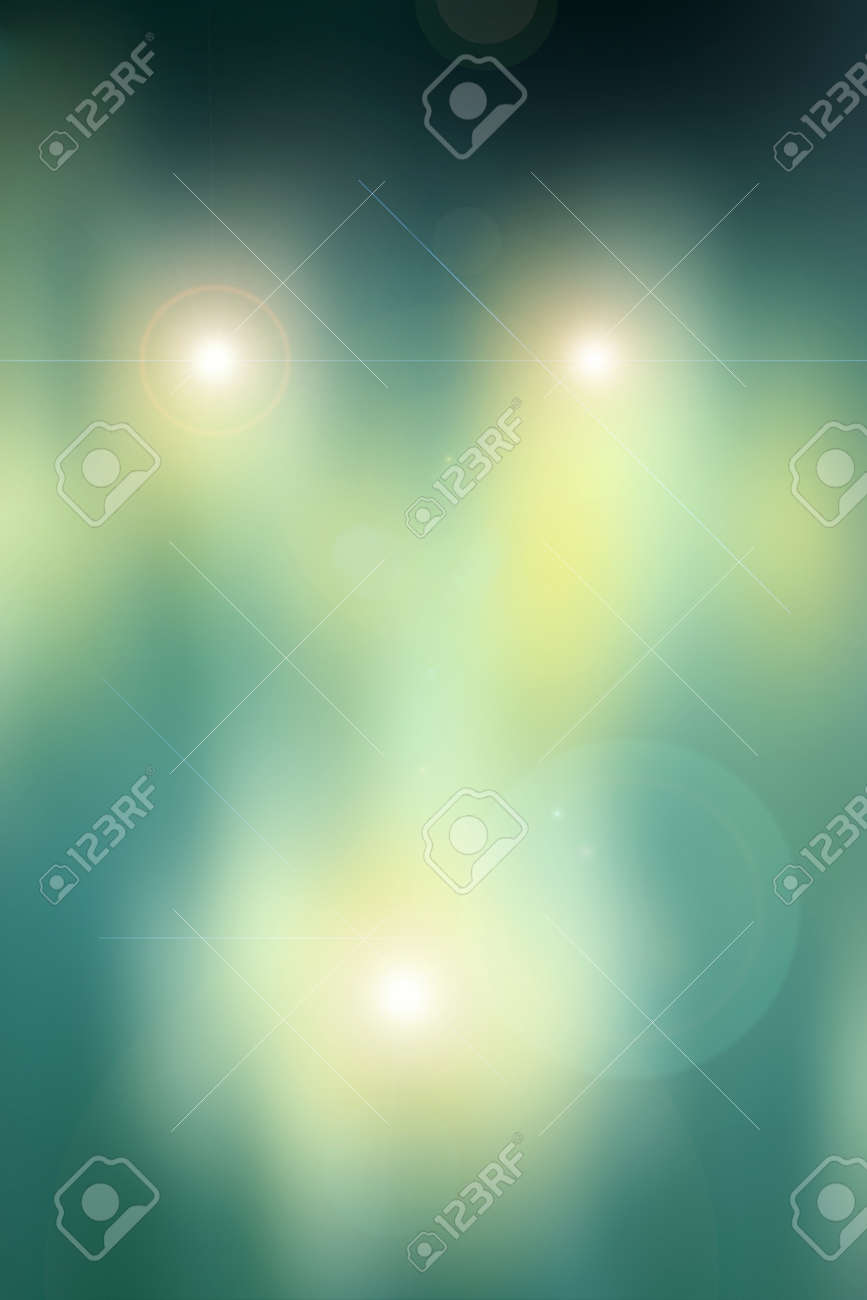 Yellow, green, abstract background based on a real photo of mine. Stock Photo - 13219959