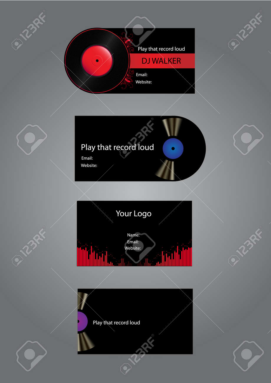 Dj Music Business Cards Royalty Free Cliparts, Vectors, And Stock ...