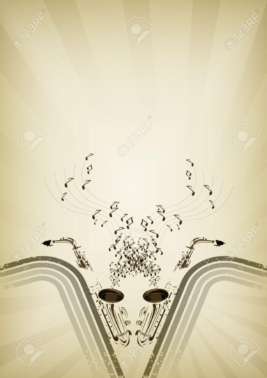 Jazz flyer background Stock Vector - 8562986