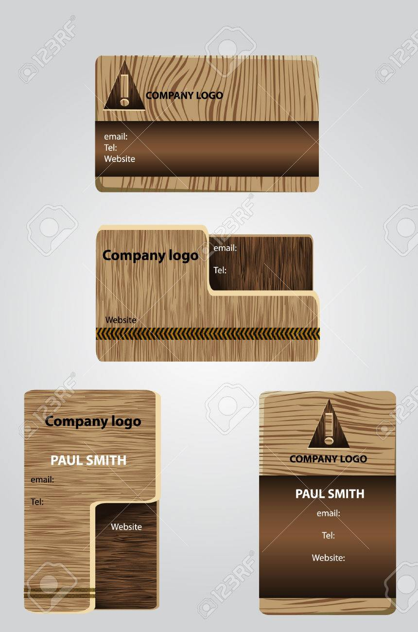 Wooden business cards Stock Vector - 8562984
