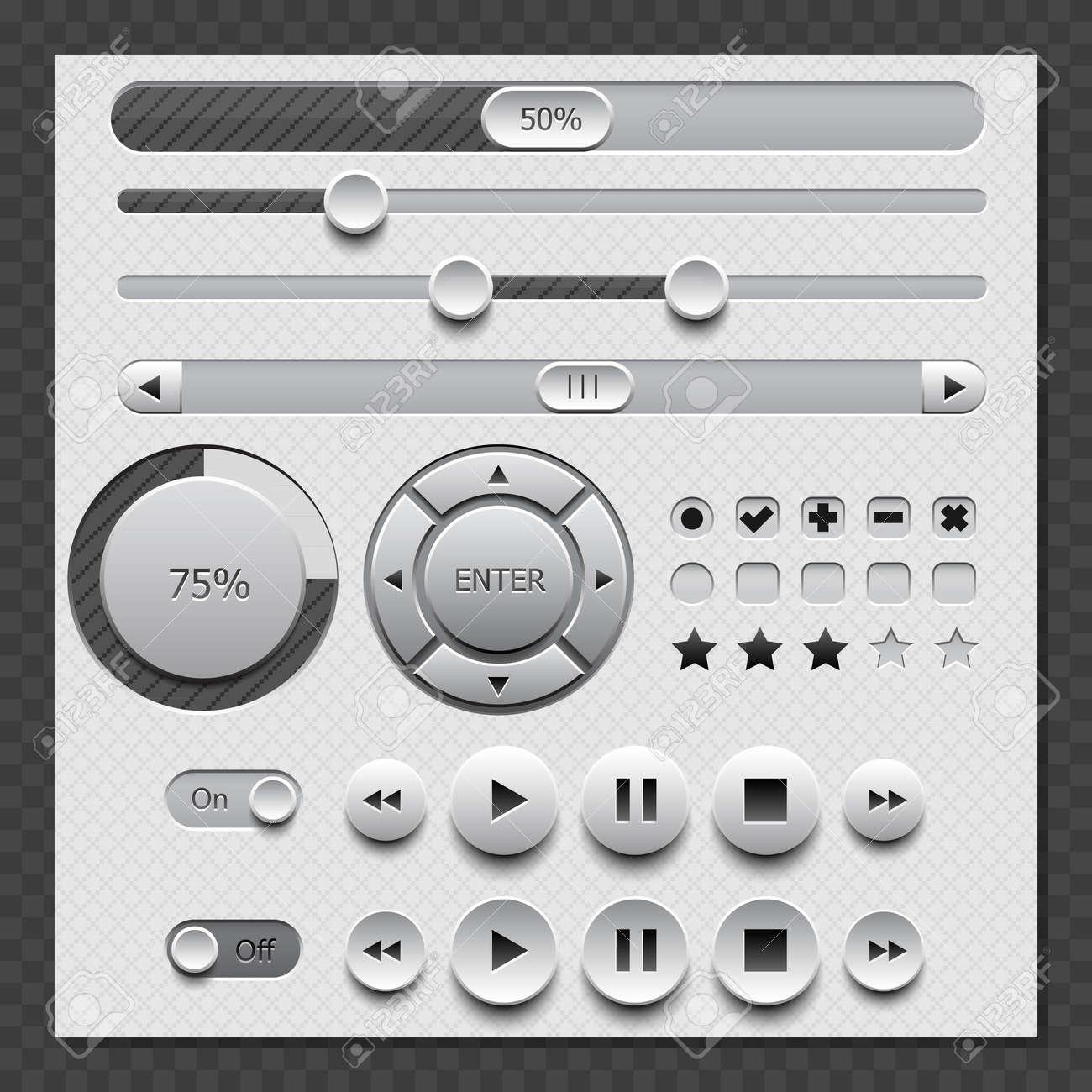 Web White User Interface Set Stock Vector - 18484684