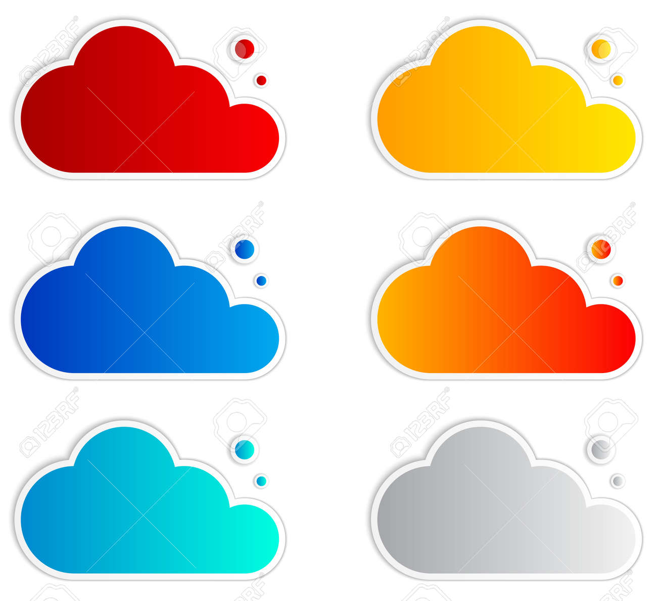 Abstract speech bubbles in the shape of clouds. Vector Illustration. Stock Vector - 19871742