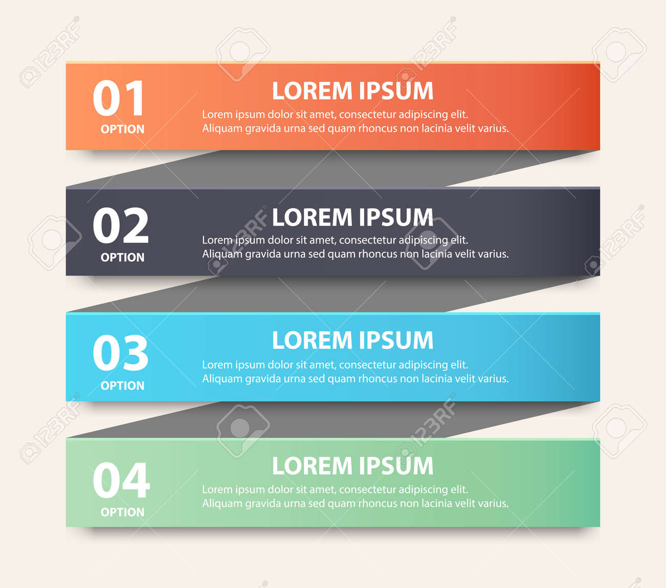 Modern spiral infographics options banner. Stock Vector - 20044601