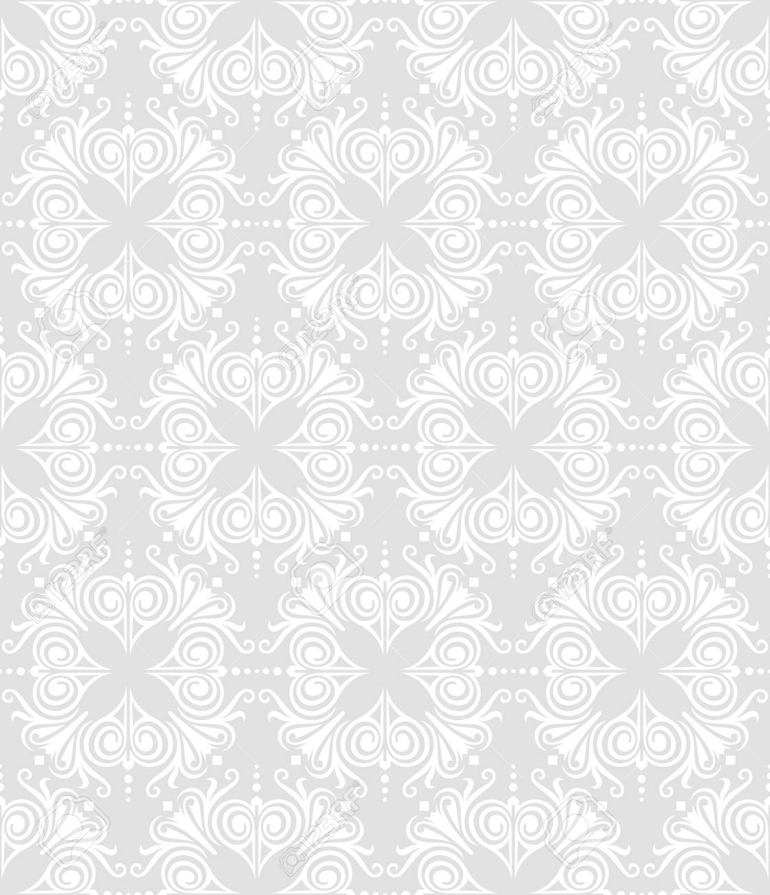 seamless floral damask pattern for wedding invitation or vintage abstract background Stock Vector - 20286791