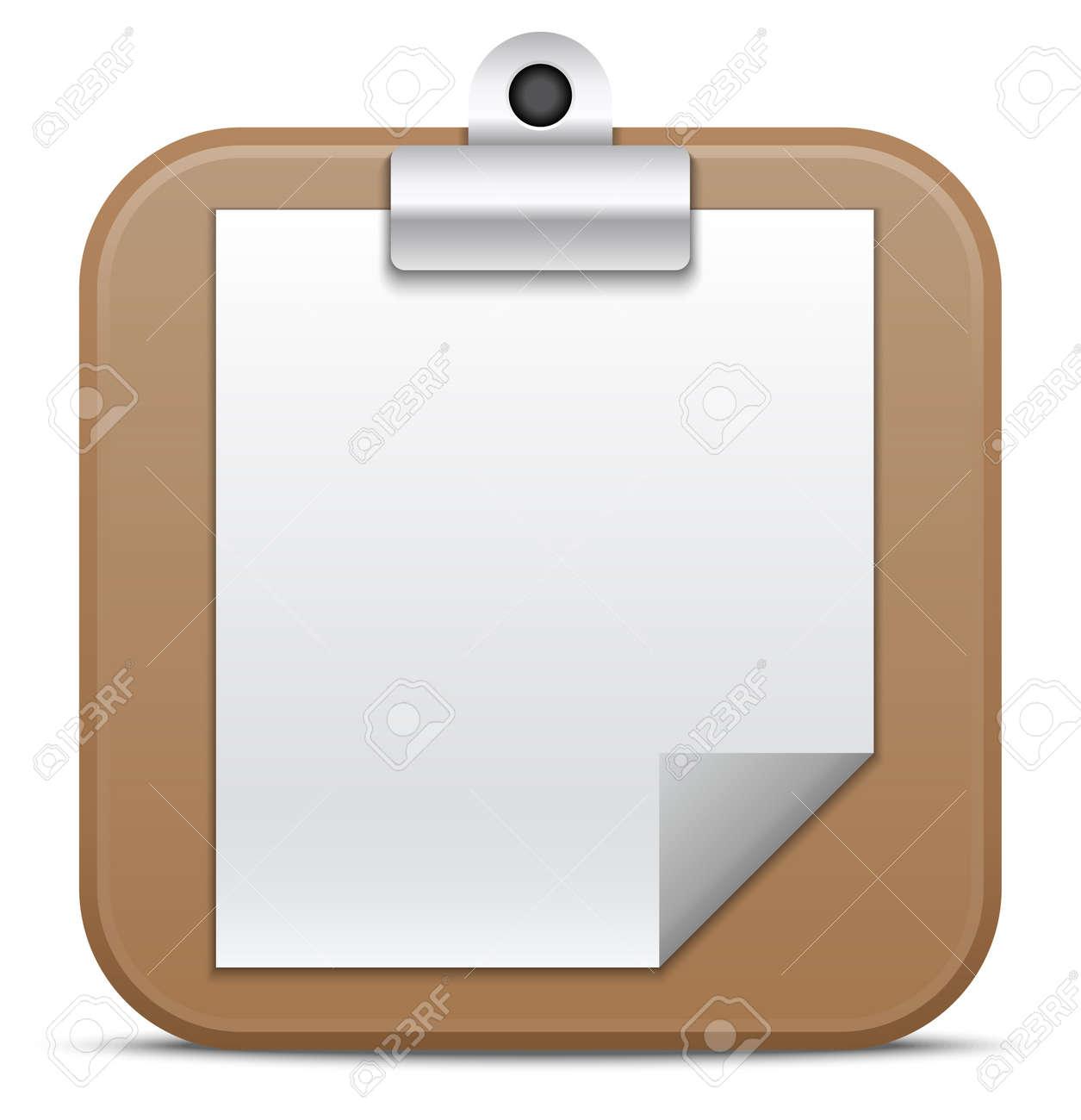 Clipboard icon  Vector illustration Stock Vector - 21139325