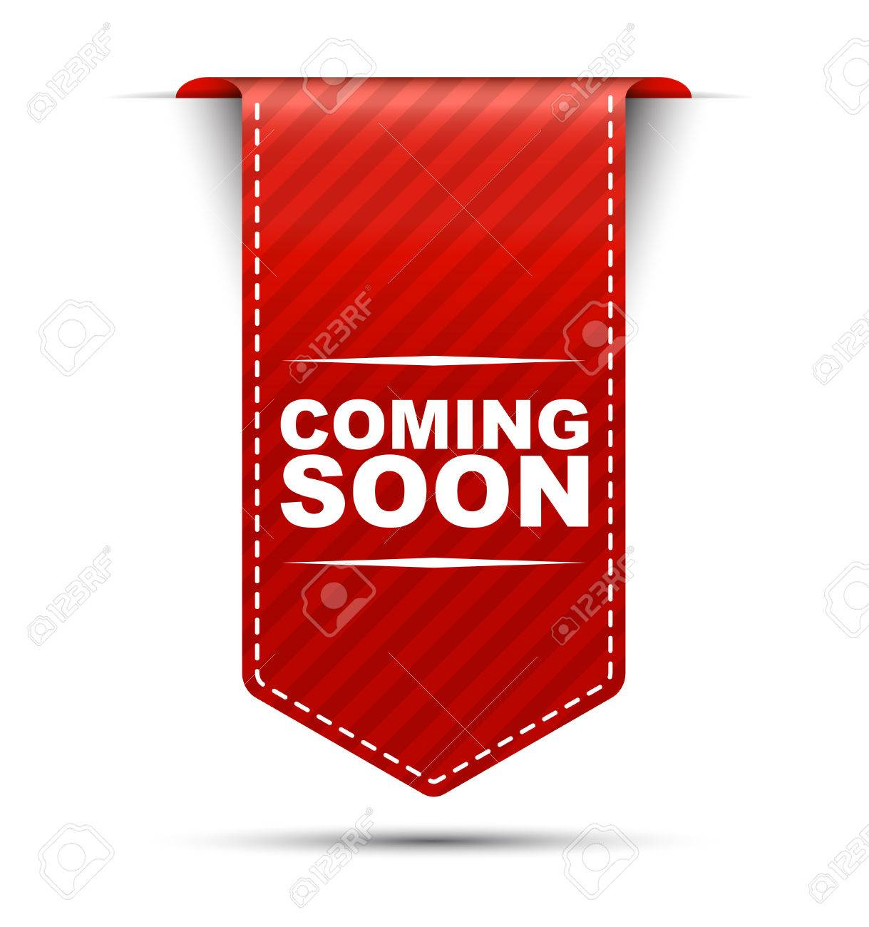 This is red vector banner design coming soon - 52963685