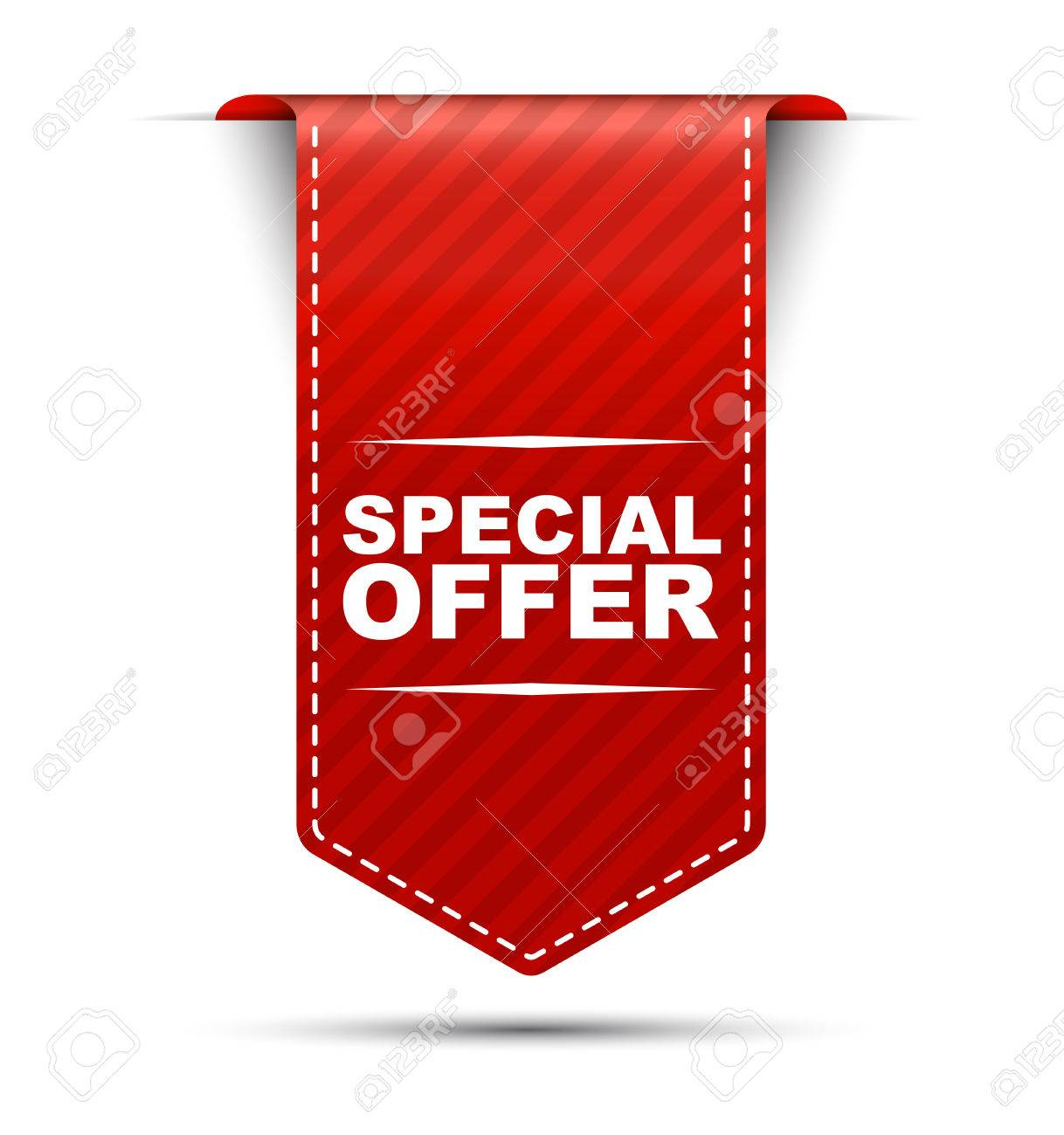 This is red vector banner design special offer - 52963697