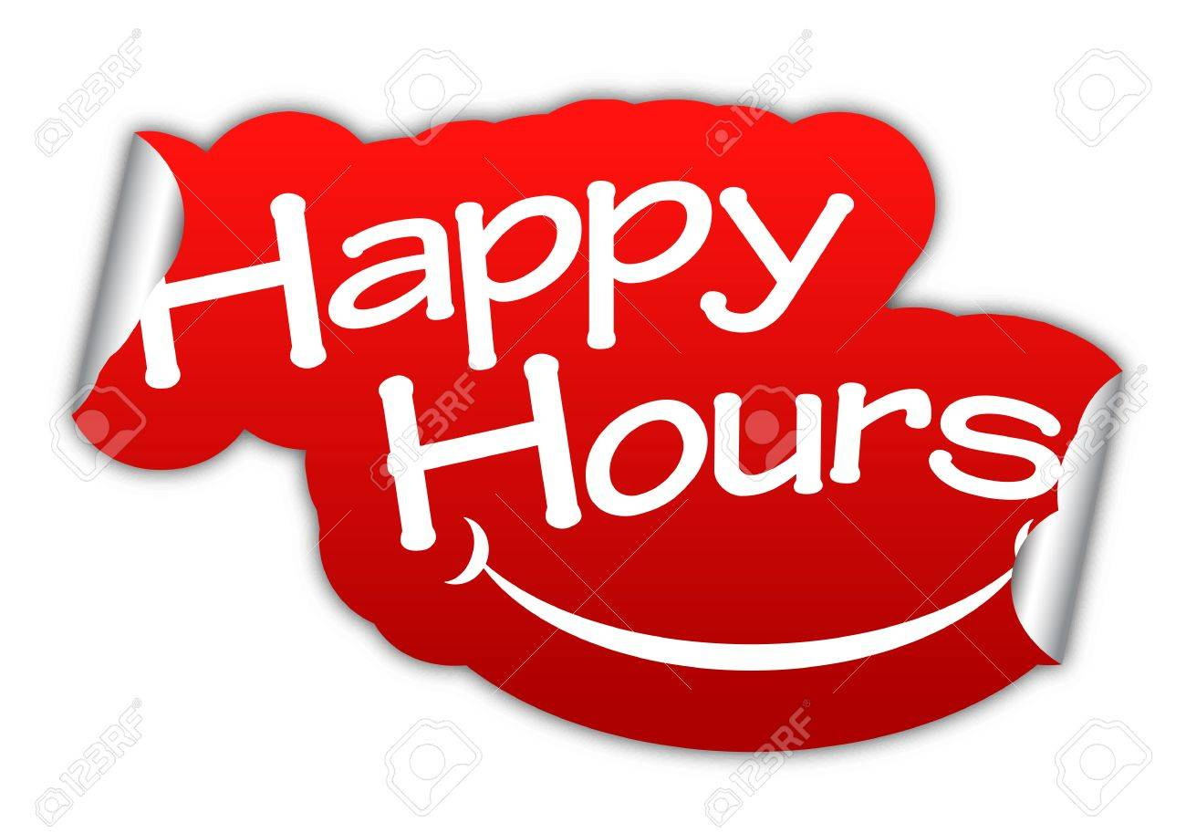 Happy hours sticker happy hour red sticker happy hour red vector stickers happy