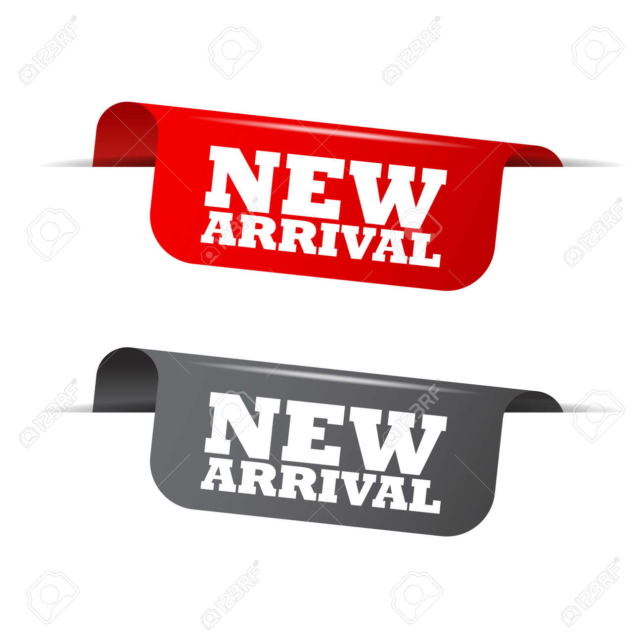 1739cdb2 new arrival, red banner new arrival, vector element new arrival Stock  Vector - 62597299