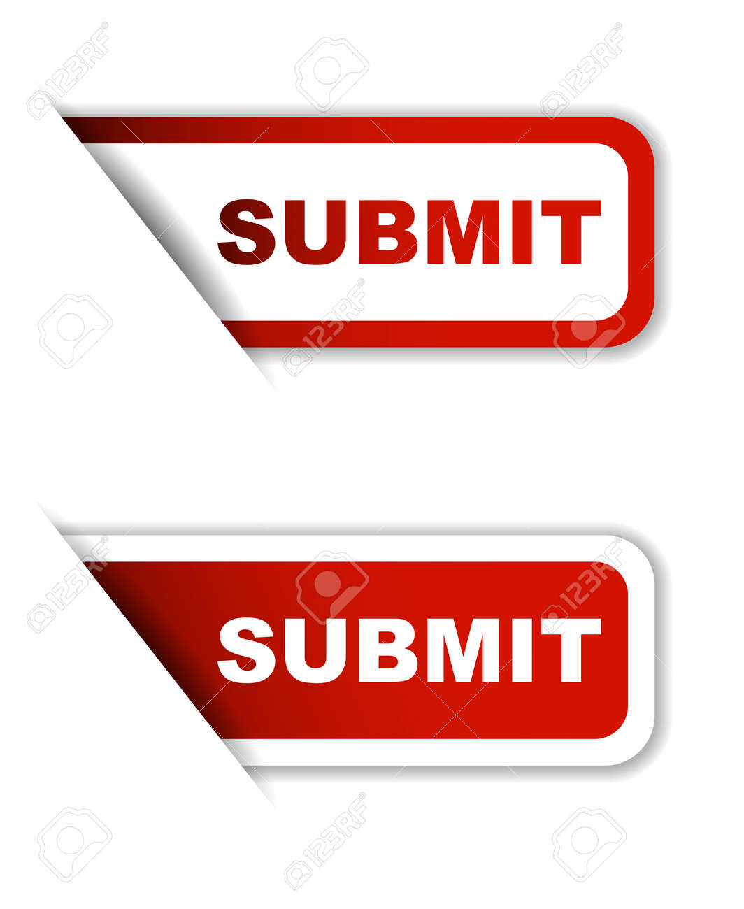 Red Vector Submit Sticker Submit Banner Submit