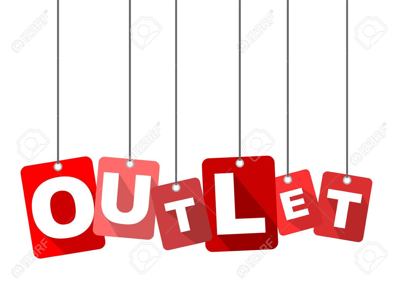 Red vector flat design background outlet. It is well adapted for web design. - 78772117