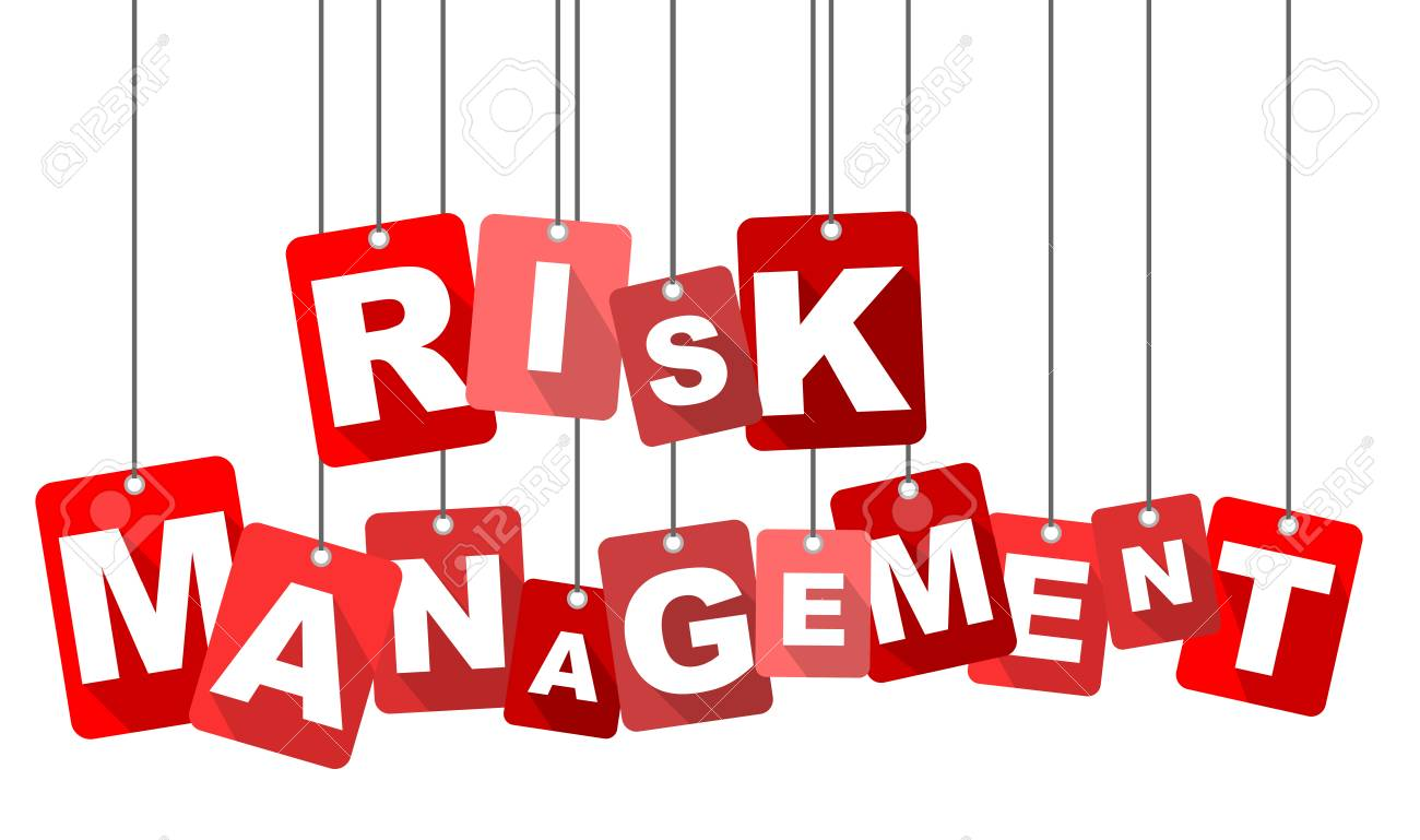 Red Vector Flat Design Background Risk Management It Is Well