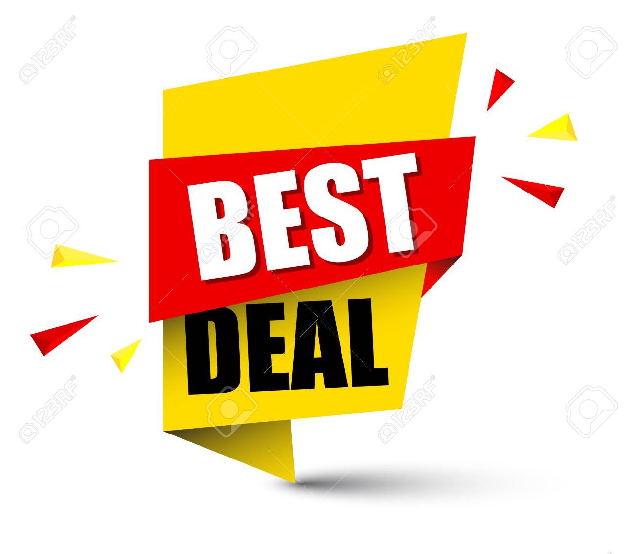 Banner best deal illustration design. - 93081357