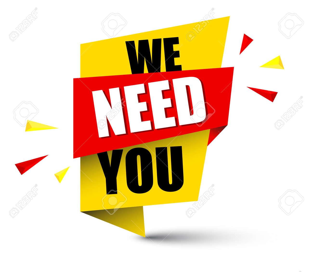 banner we need you illustration. - 93570704