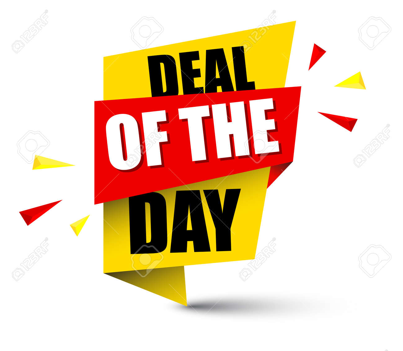 c3159c23d856 banner deal of the day Stock Vector - 93570708