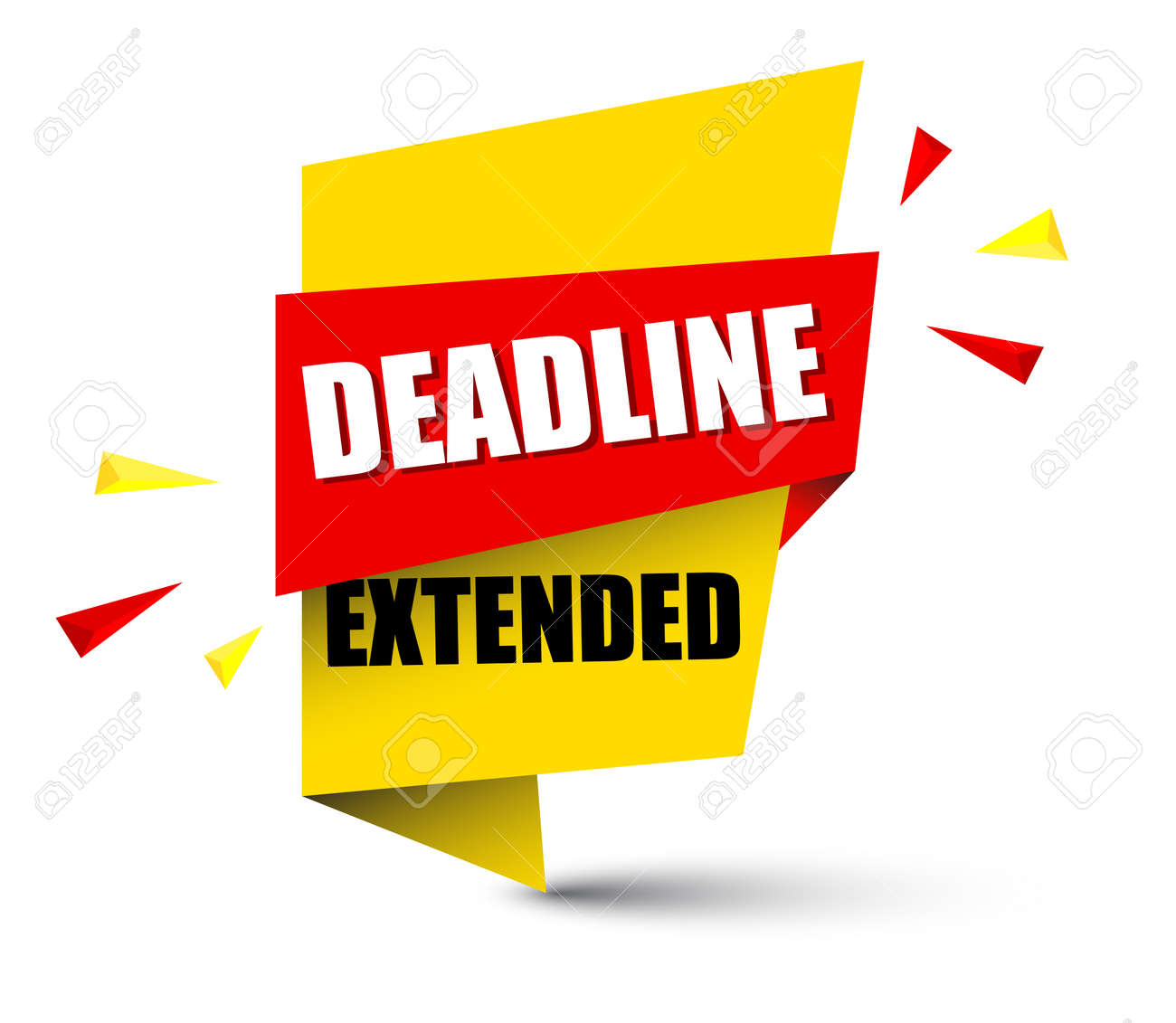 Banner Deadline Extended Icon Illustration On White Background. Royalty  Free Cliparts, Vectors, And Stock Illustration. Image 95671623.