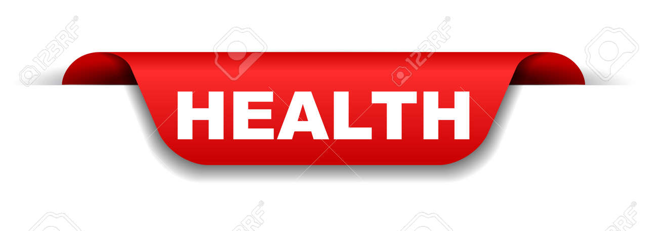 Red Banner Health Royalty Free Cliparts Vectors And Stock Illustration Image 109912488