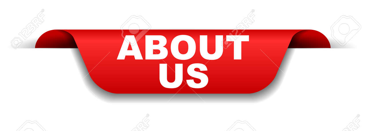 red banner about us - 109932823
