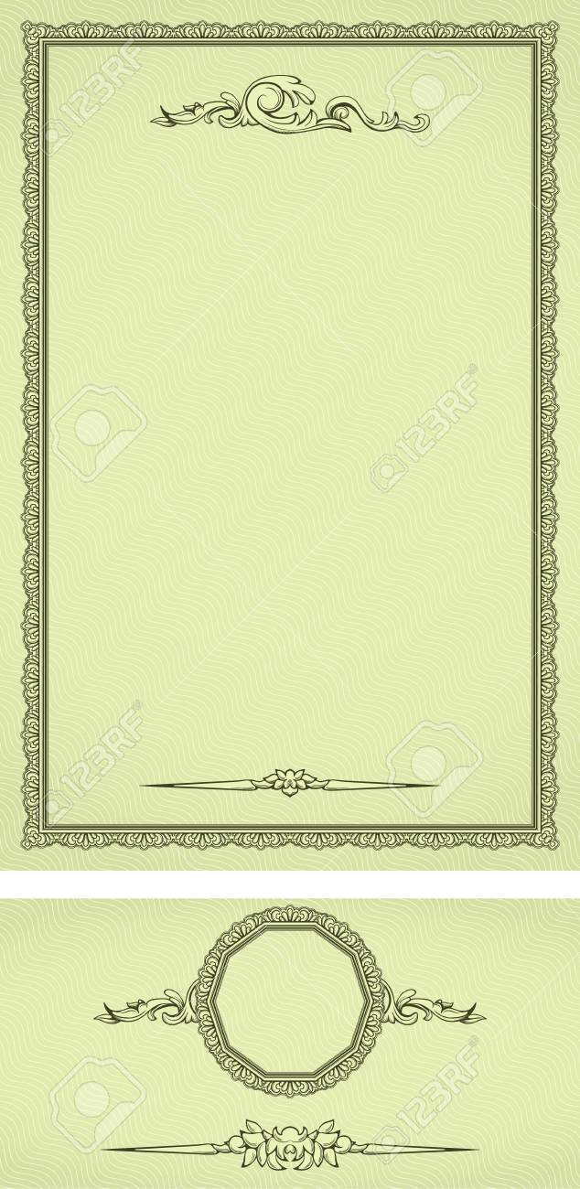 Vintage frame on seamless background stylized like watermark with additional elements Stock Vector - 10756768