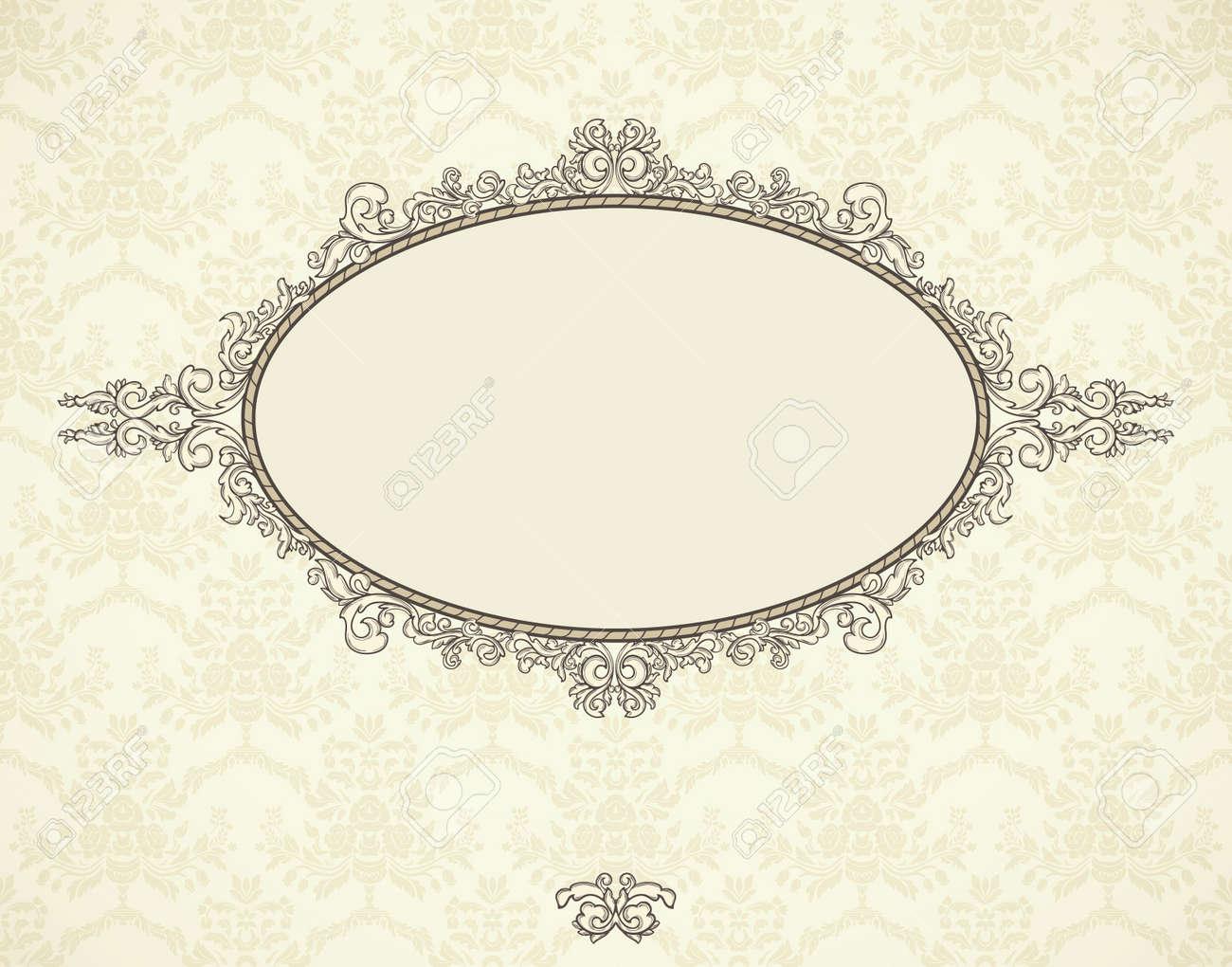 vintage frame auf nahtlose tapeten. könnte für weihnachten, Einladungen