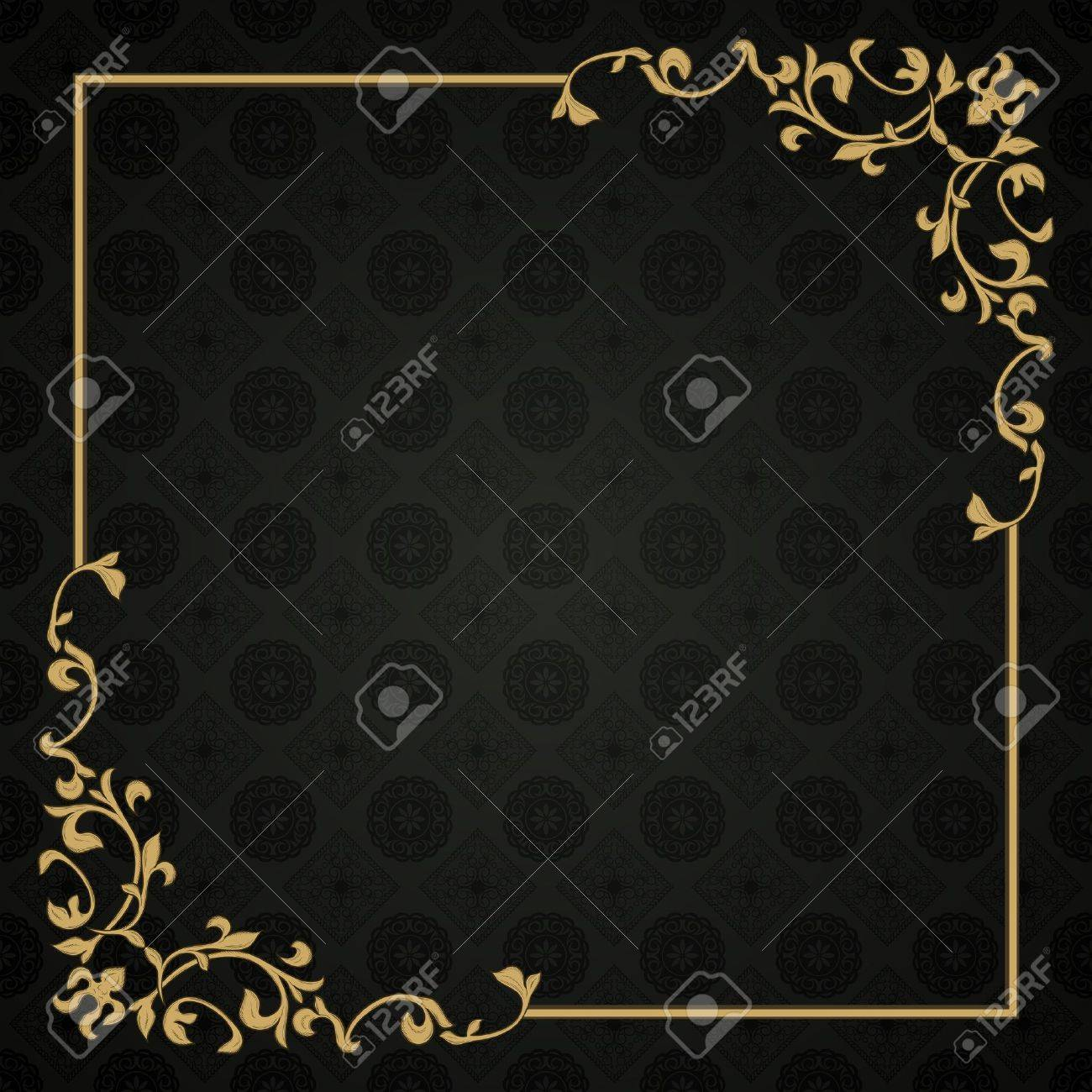 Frame in retro style on seamless background Stock Vector - 11500353