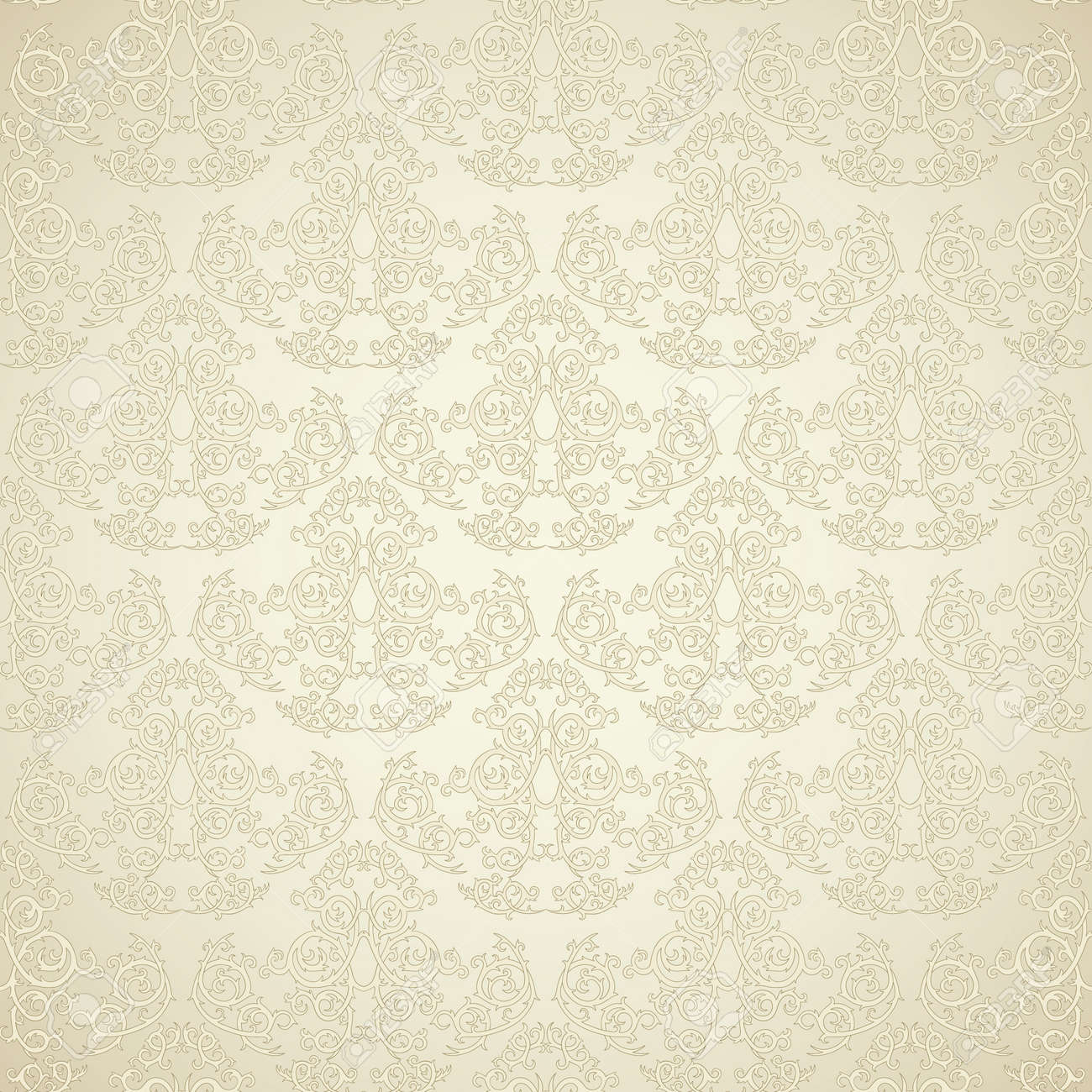 Damask seamless wallpaper on beige  background. Stylish and luxuryz Stock Vector - 11964899