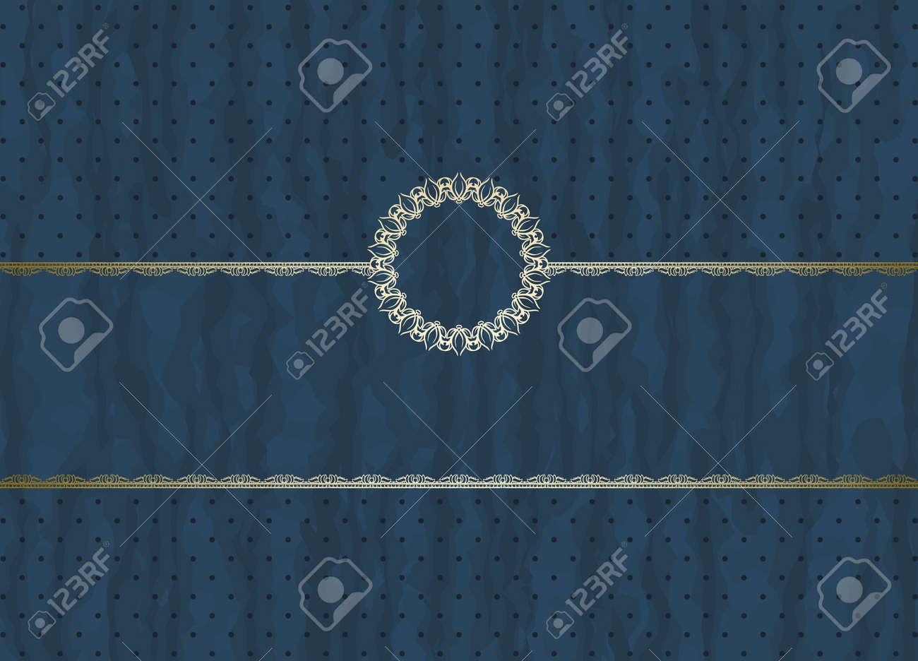 Detailed retro frame on  polka-dot beige background Stock Vector - 12217758