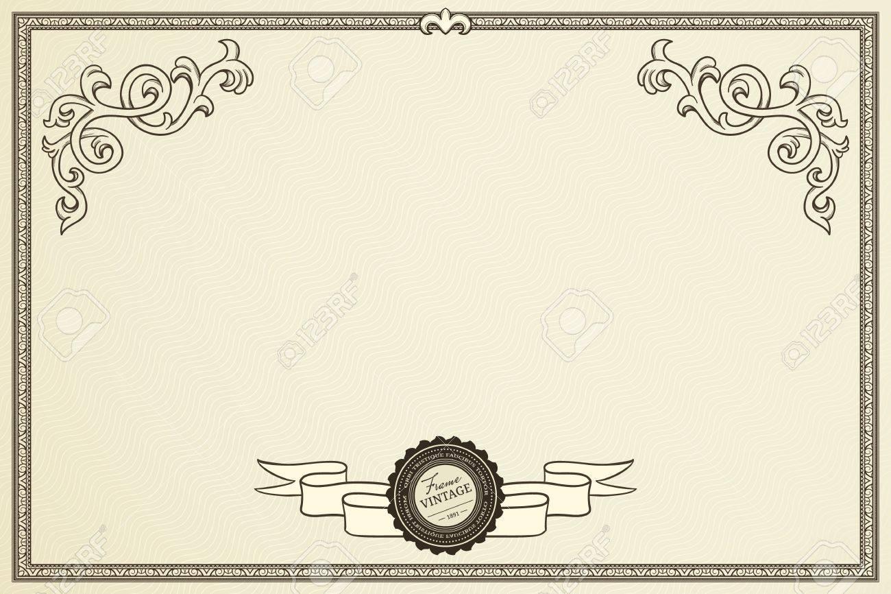 Certificate of success in retro style Stock Vector - 14376810