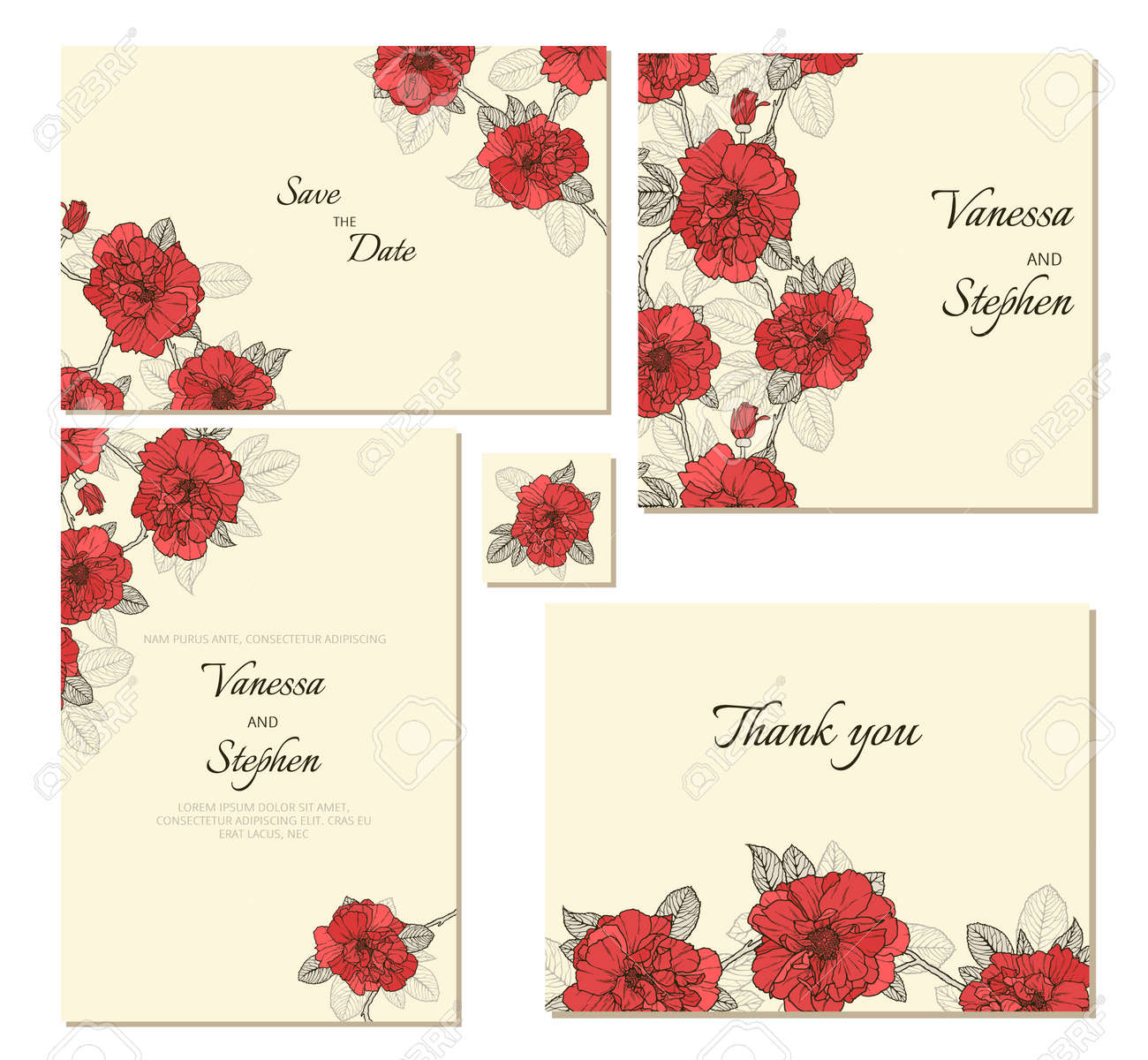 Set Of Floral Frames. Perfect For Wedding Invitation,save The ...