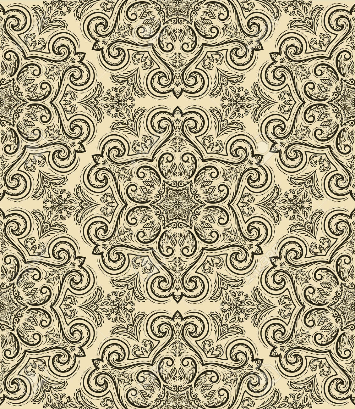 Seamless pattern in retro style Stock Vector - 15642615
